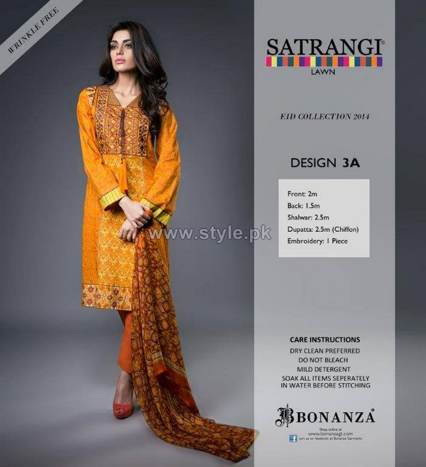 Bonanza Satrangi Eid Dresses 2014 For Women 7