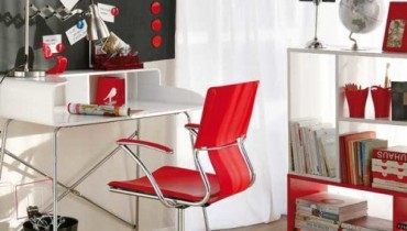 Home Office Designs With Red Accents 0011