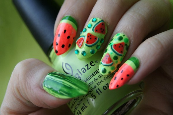 Latest Fruit Nail Art Designs 2014 For Summer Season