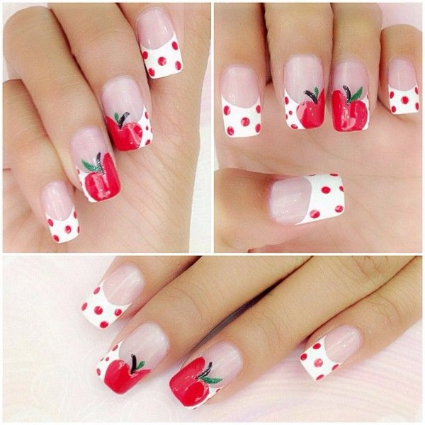 Latest fruit nail art designs 2014 for summer season advertisement prinsesfo Images