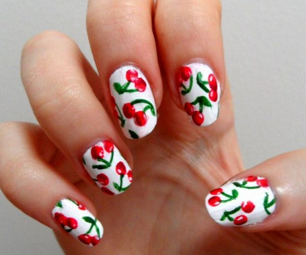 Latest Fruit Nail Art Designs 2014 For Summer Season 005