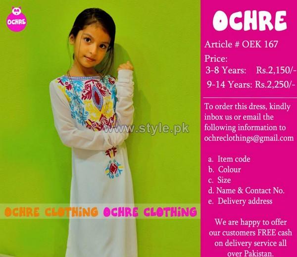 Ochre Clothing Eid Dresses 2014 For Girls 5