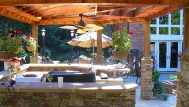 Outdoor Kitchen Decoration Ideas In Summer Season 001