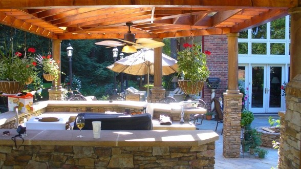Outdoor kitchen decoration ideas in summer season style pk for Outdoor summer kitchen ideas