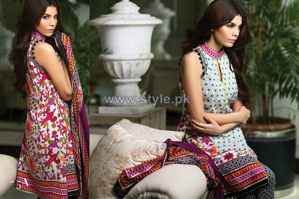 Sana Safinaz Eid Lawn Dresses 2014 For Girls 1