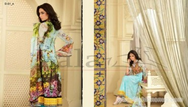 Sana Samia Embroidered Lawn Dresses 2014 In Stores 1