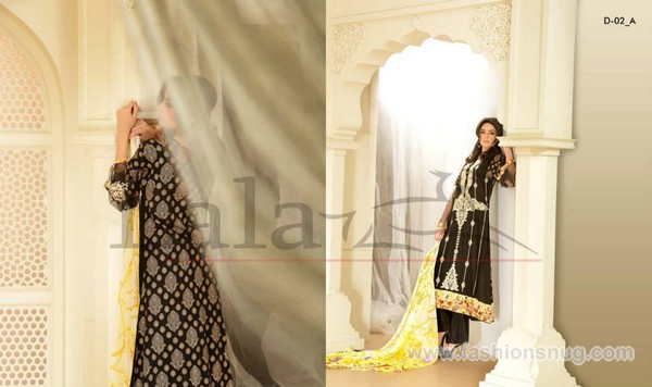Sana Samia Embroidered Lawn Dresses 2014 In Stores 3