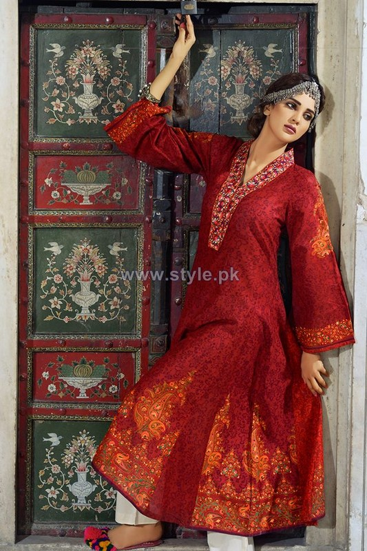 Umar Sayeed Eid Dresses 2014 By Al-Karam Textiles 5