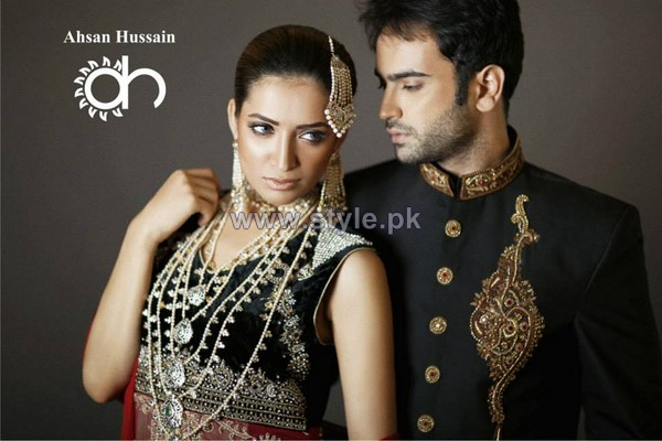 Ahsan Hussain Wedding Wear 2014 For Brides and Groom 2