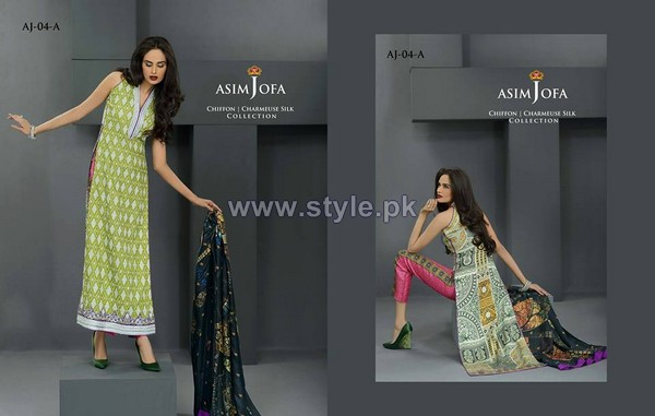 Asim Jofa Silk Dresses 2014 For Eid 4