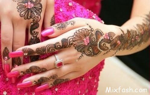 Glitter Mehndi Designs 2014 For Women 002