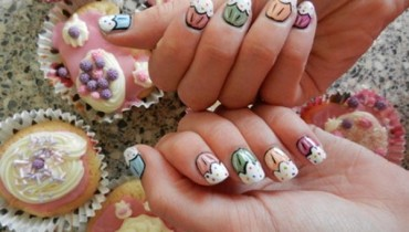 Happy Birthday Nail Art Ideas 2014 For Girls 007