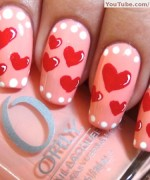 Heart Nail Art Designs 2014 For Women 00`