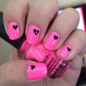 Heart Nail Art Designs 2014 For Women 0012