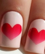 Heart Nail Art Designs 2014 For Women 0015