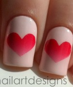 Heart Nail Art Designs 2014 For Women 002