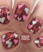 Heart Nail Art Designs 2014 For Women 006