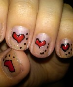 Heart Nail Art Designs 2014 For Women 008