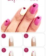 Heart Nail Art Designs 2014 For Women 009