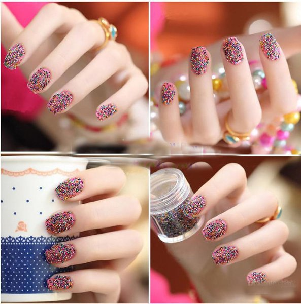 New Nail Art Designs 2014 For Eid