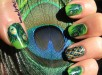 Peacock Nail Art Designs For Summer Season 005
