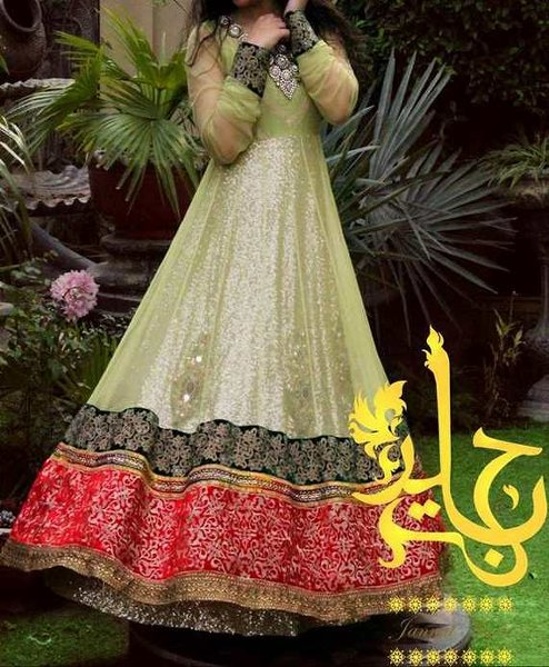 Trends Of Anarkali Frocks 2014 For Eid 0013