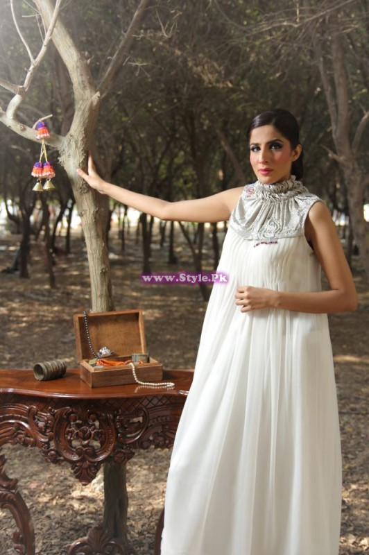 Designer Nazish Kalani White Dress