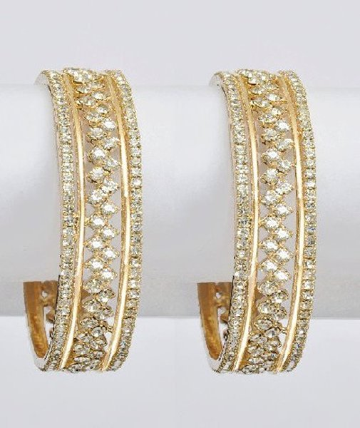 Designs Of Bridal Diamond Bangles 2014 For Women 0014