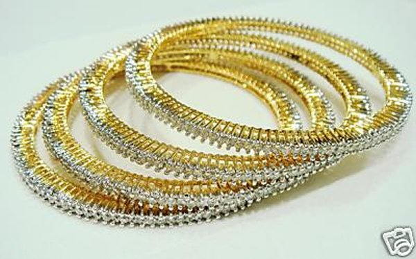 Designs Of Bridal Diamond Bangles 2014 For Women 0015