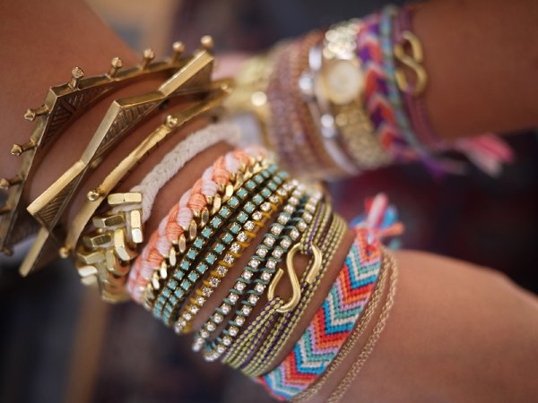 Designs Of Party Arm Bracelets 2014 For Girls