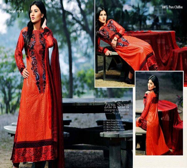 Embroidered Lawn Dresses Trend 2014 For Women 02