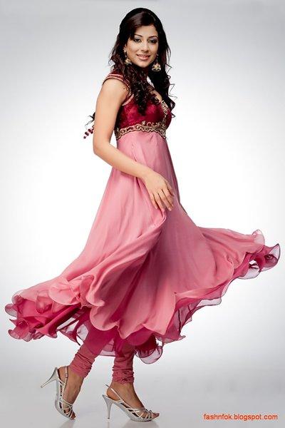 Fashion Of Anarkali Frocks With Churidar Pajamas 005
