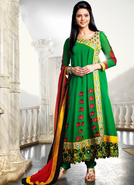 Fashion Of Angrakha Frocks 2014 For Women 009
