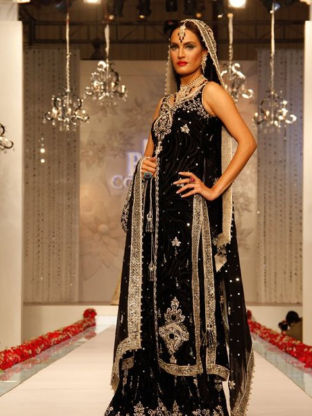 Fashion Of Bridal Dresses 2014 In Black Color 008