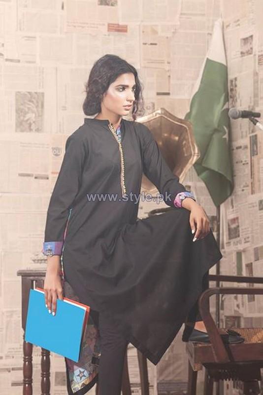 Gul Ahmed 14 August Kurtis 2014 For Women