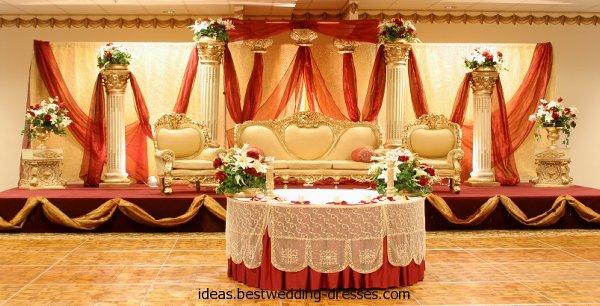 Mehndi And Barat Stage Decoration Ideas 005