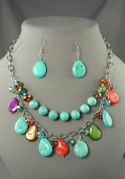Trends Of Necklace Stones Designs For Women 006