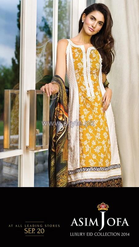 Asim Jofa Luxury Eid Collection 2014 For Girls 3