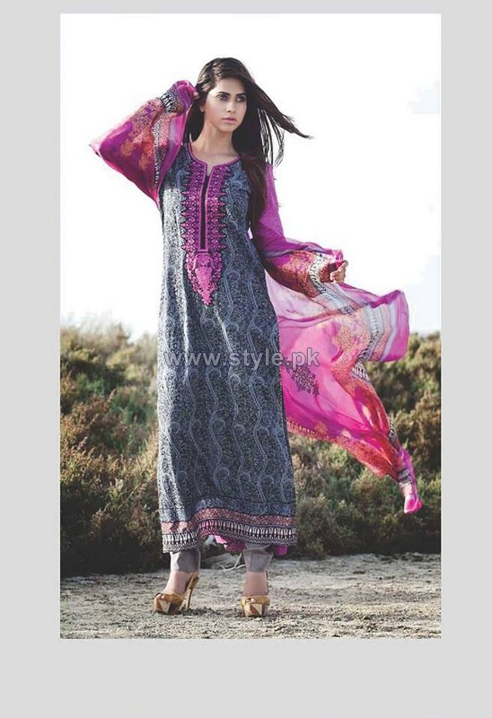 Deeba Designer Embroidered Dresses 2014 by Shariq Textiles 6