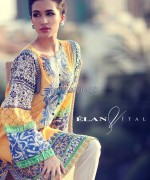 Elan Vital Lawn Dresses 2014 For Mid Summer 2