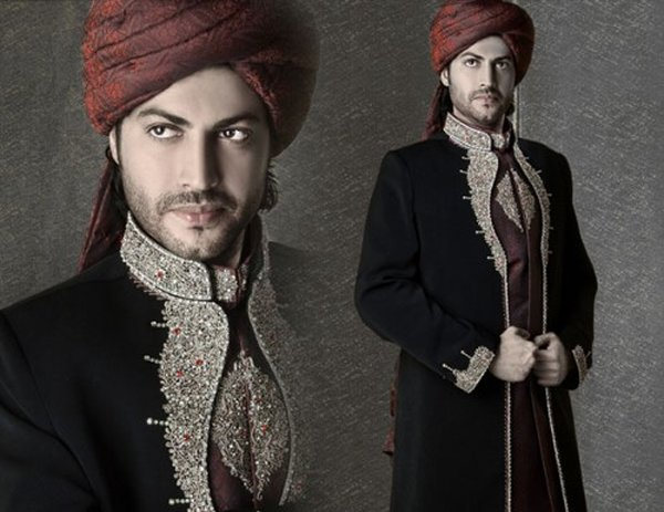 Fashion Of Black Sherwani 2014 For Pakistani Groom 005