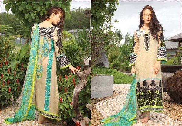 Fashion Of Pakistani Silk Dresses 2014 For Women 0011