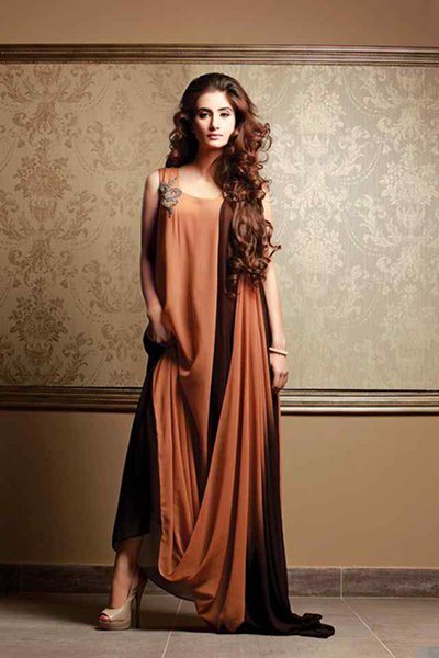Fashion Of Pret Wear Dresses 2014 For Women 001