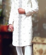 Fashion Of White Sherwani 2014 For Pakistani Groom 001