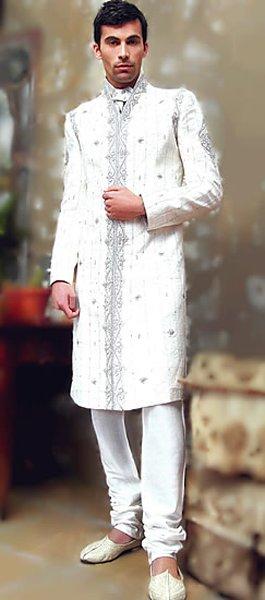 Fashion Of White Sherwani 2014 For Pakistani Groom 001
