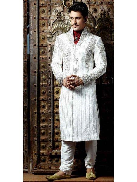 Fashion Of White Sherwani 2014 For Pakistani Groom 0010