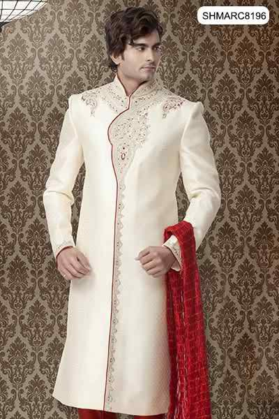 Fashion Of White Sherwani 2014 For Pakistani Groom 0011