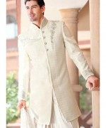 Fashion Of White Sherwani 2014 For Pakistani Groom 0012