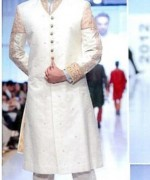 Fashion Of White Sherwani 2014 For Pakistani Groom 0013