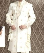 Fashion Of White Sherwani 2014 For Pakistani Groom 0014